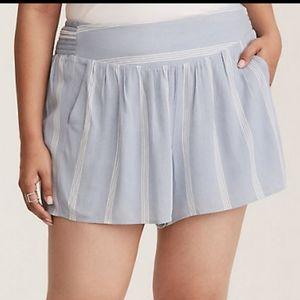 NWT Torrid Blue Shorts Size 2X